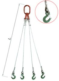 ZAWIESIE LINOWE 4 CIĘG.FKSh LINA FI 10 L3,0 m HS