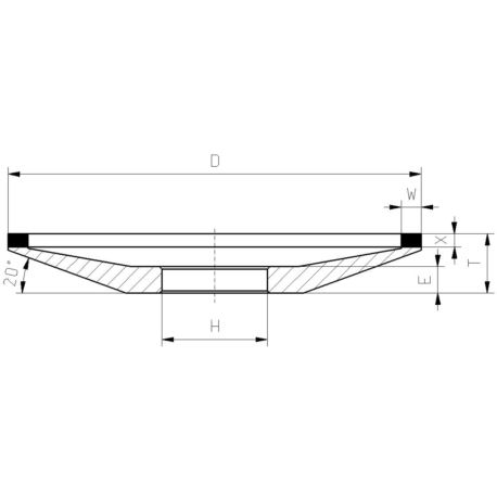 ŚCIERNICA DIAM.12A2 150*10*2*32-D126C75-SAMBOR